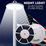 42 LED Outdoor Solar Power Flag Pole Lights