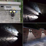 2 Heads Motion Sensor Solar Lamp with 22 LEDs Lights