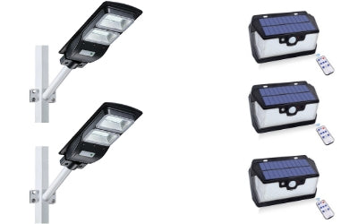 Solar 55 LED 800LM + 60W Solar Street Light 4500LM Bundle Offer