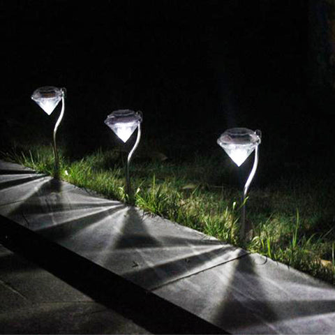 Outdoor LED Solar Diamonds Lamps