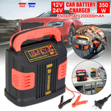 Jump Starter Portable Car Charger 350W 12V/24V 35000mAh