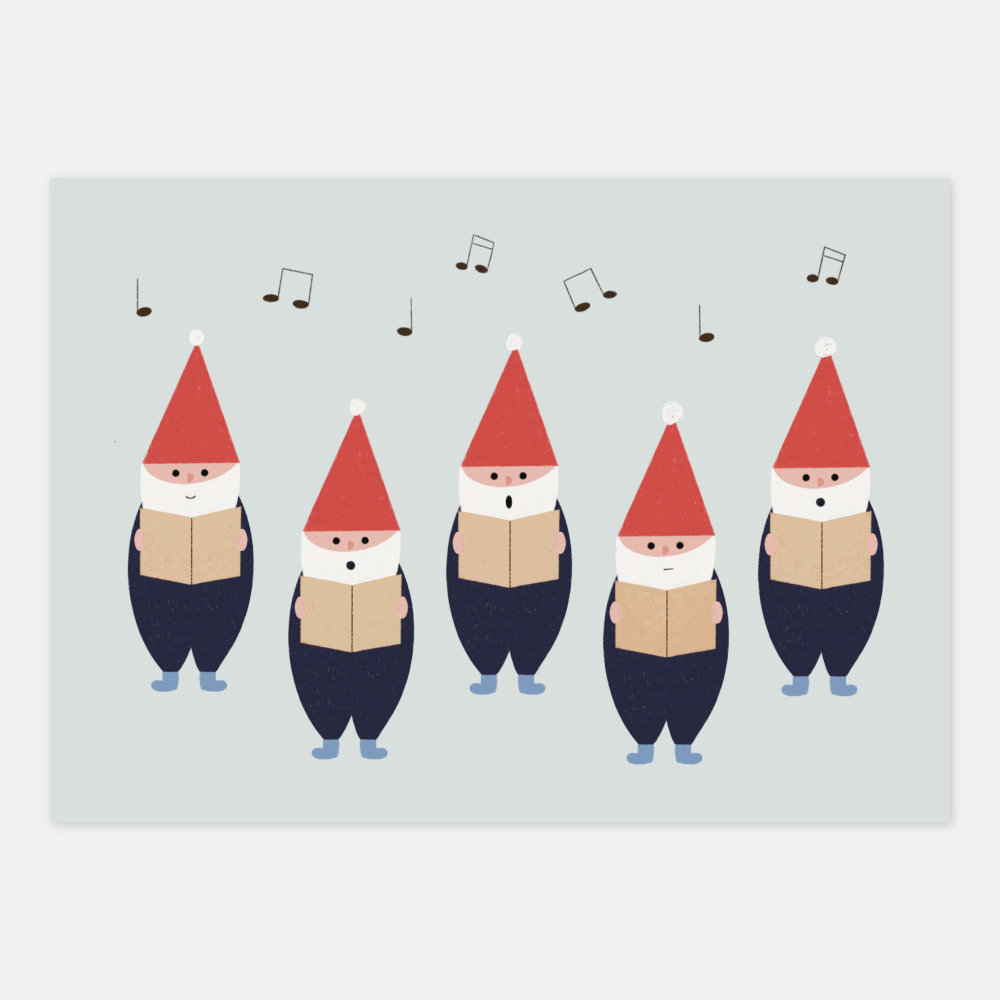 Elf Choir Postcard