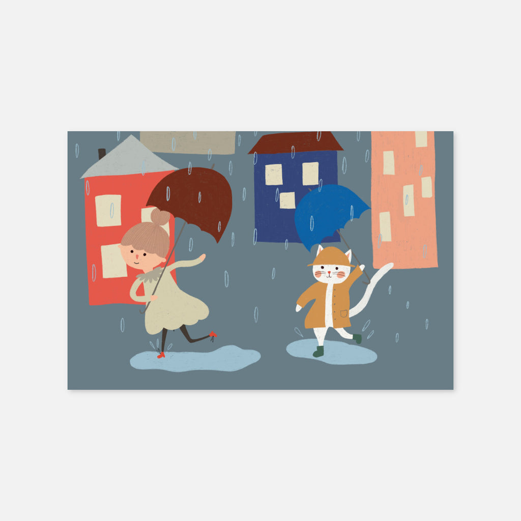 Dancing in the rain Postcard