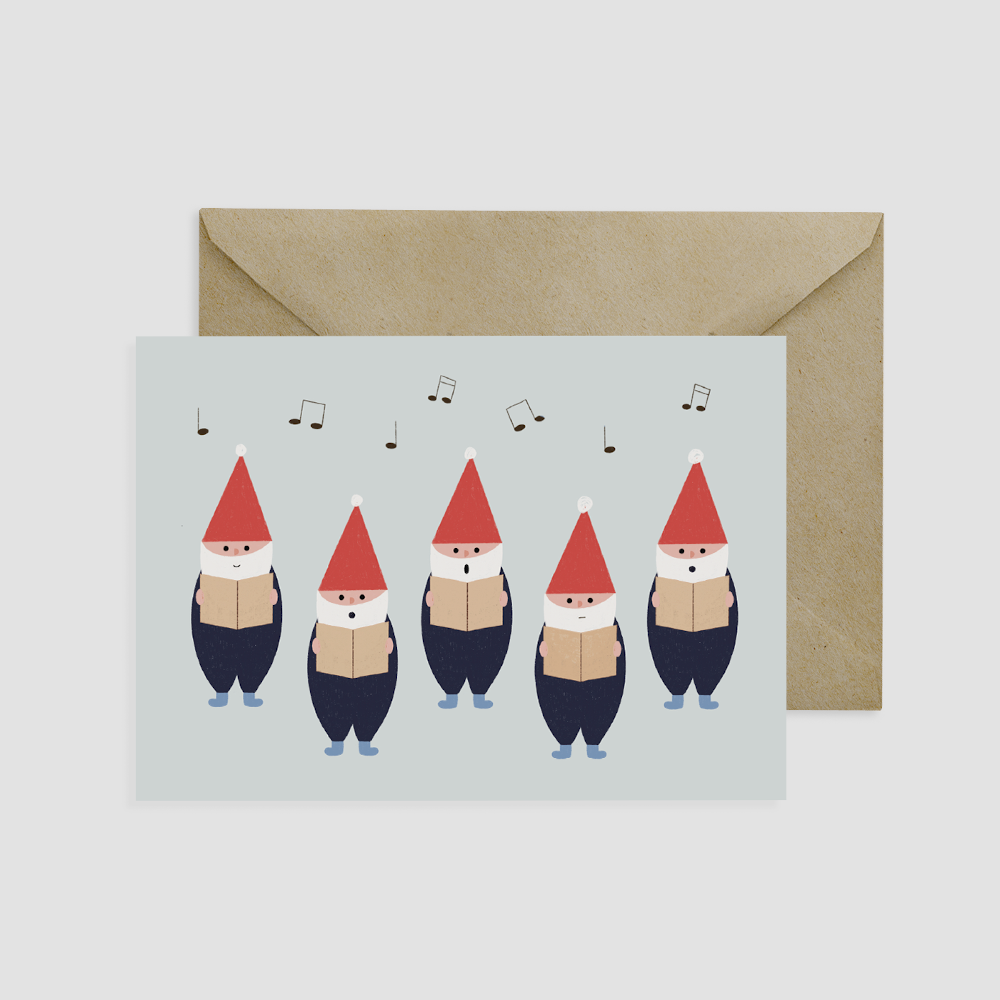 Elf Choir Card