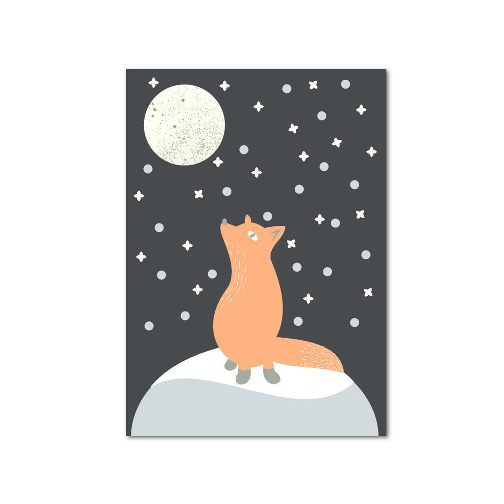 Fox in a moonlight Postcard