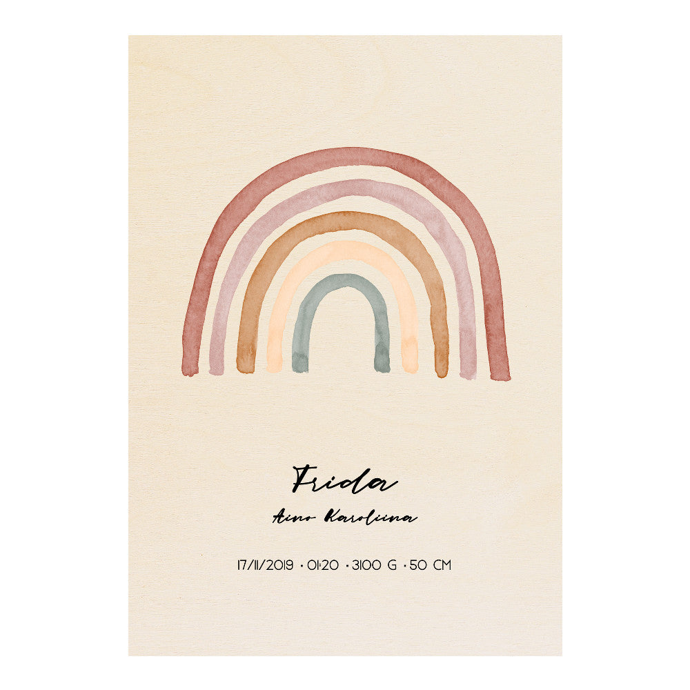 Wooden Your Day Poster - Rainbow