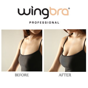 before and after comparison of WingBra , dramatic enhanced impact