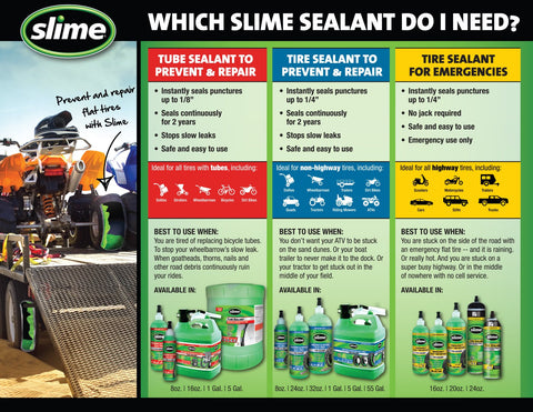 Which Slime Sealant Do I Need Comparison Chart