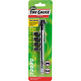 Slime Low Pressure Pencil Tire Gauge with Valve Caps #1011-A