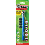 Slime Pencil Tire Gauge with Valve Caps #1023-A