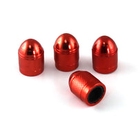 Slime Anodized Aluminum Valve Caps Red #20129