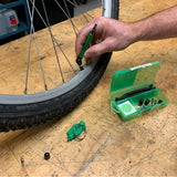 Slime Bike Tube Repair & Maintenance Kit #20482 Gauge In Use