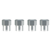 Slime Hex-Head Chrome Tire Valve Caps #2048-A