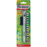 Slime Chrome Pencil Tire Gauge with Valve Caps (5-50 psi) #22013