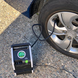 Slime Dual Power Tire Inflator (120V/12V) #40052 In Use