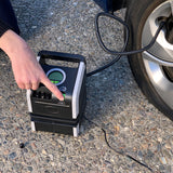 Slime Dual Power Tire Inflator (120V/12V) #40052 Turn On