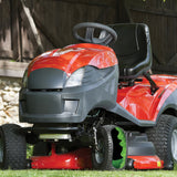 Tire sealant in a riding lawn mower