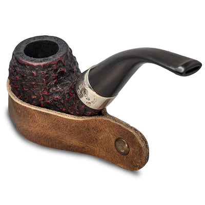 Leather Tobacco Pipe Stand - for Smoking Pipes Handmade Fair Wage in Central America