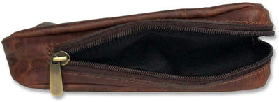 Briar and Oak - Genuine Leather Zipper Case with Rubber Lining for Pipe and Tobacco - Compact Travel Pouch Bag, Storage for Pipes, Cigars, and Lighters