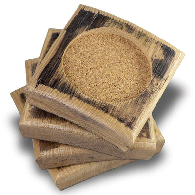 Set of 4 Barrel Drink Coaster
