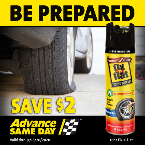 Save on Fix-a-Flat at Advance Auto Parts