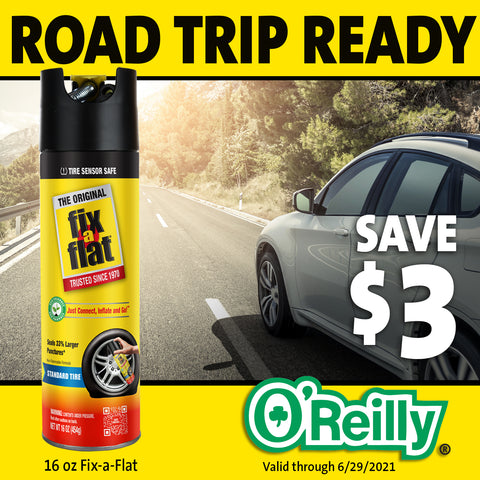 Save on Fix-a-Flat at O'Reilly