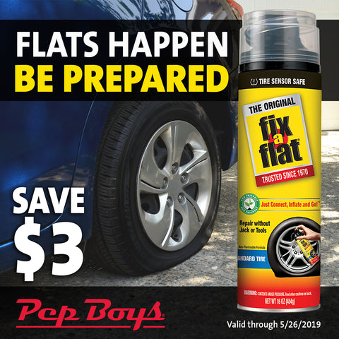 May Fix-a-Flat Promotion at Pep Boys