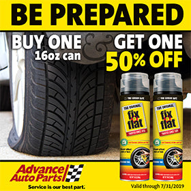 Save on Fix-a-Flat at Advance Auto
