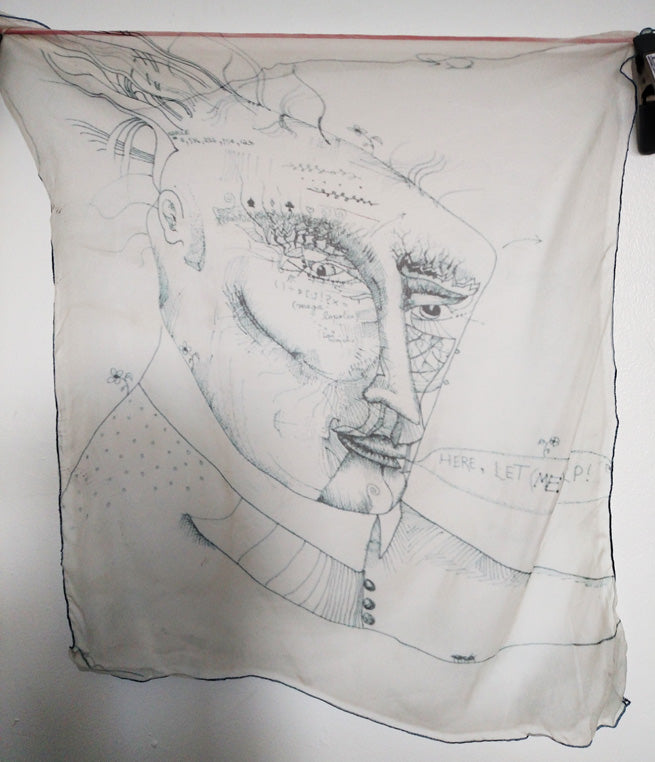 RBM drawing on China Silk