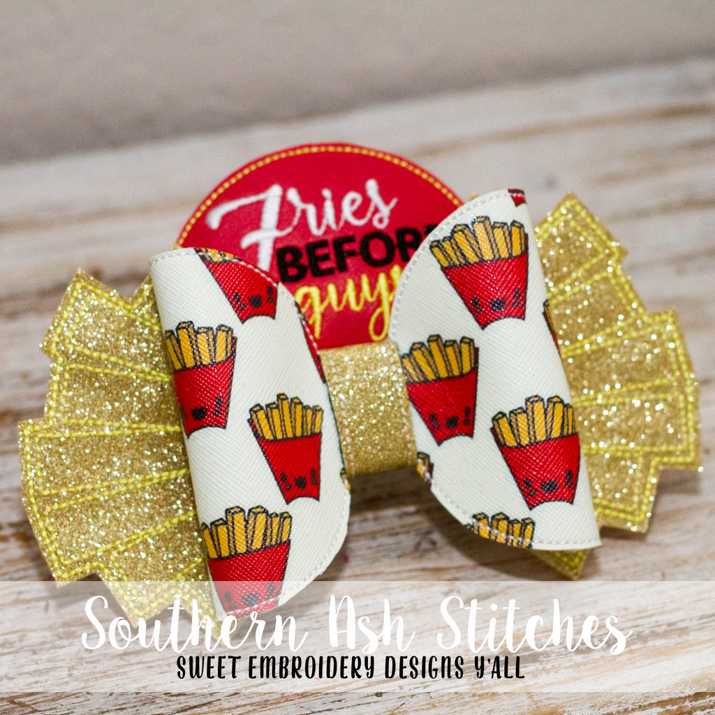 4a59d1ffba ... Fries Before Guys Bow In The Hoop Embroidery Digital Download ...