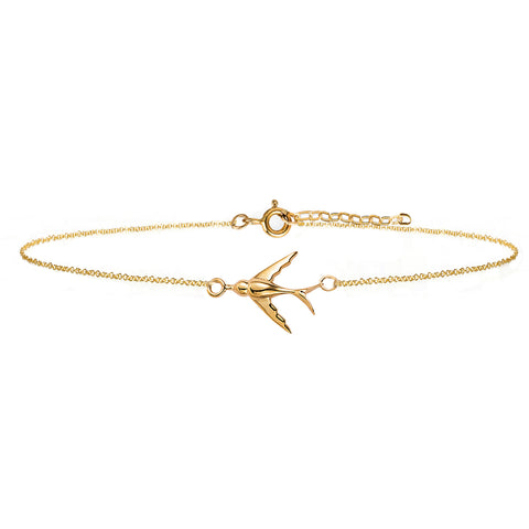 Swallow Bracelet - Gold - IndependentBoutique.com