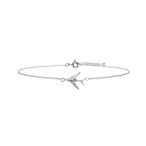 Swallow Bracelet - Silver - IndependentBoutique.com
