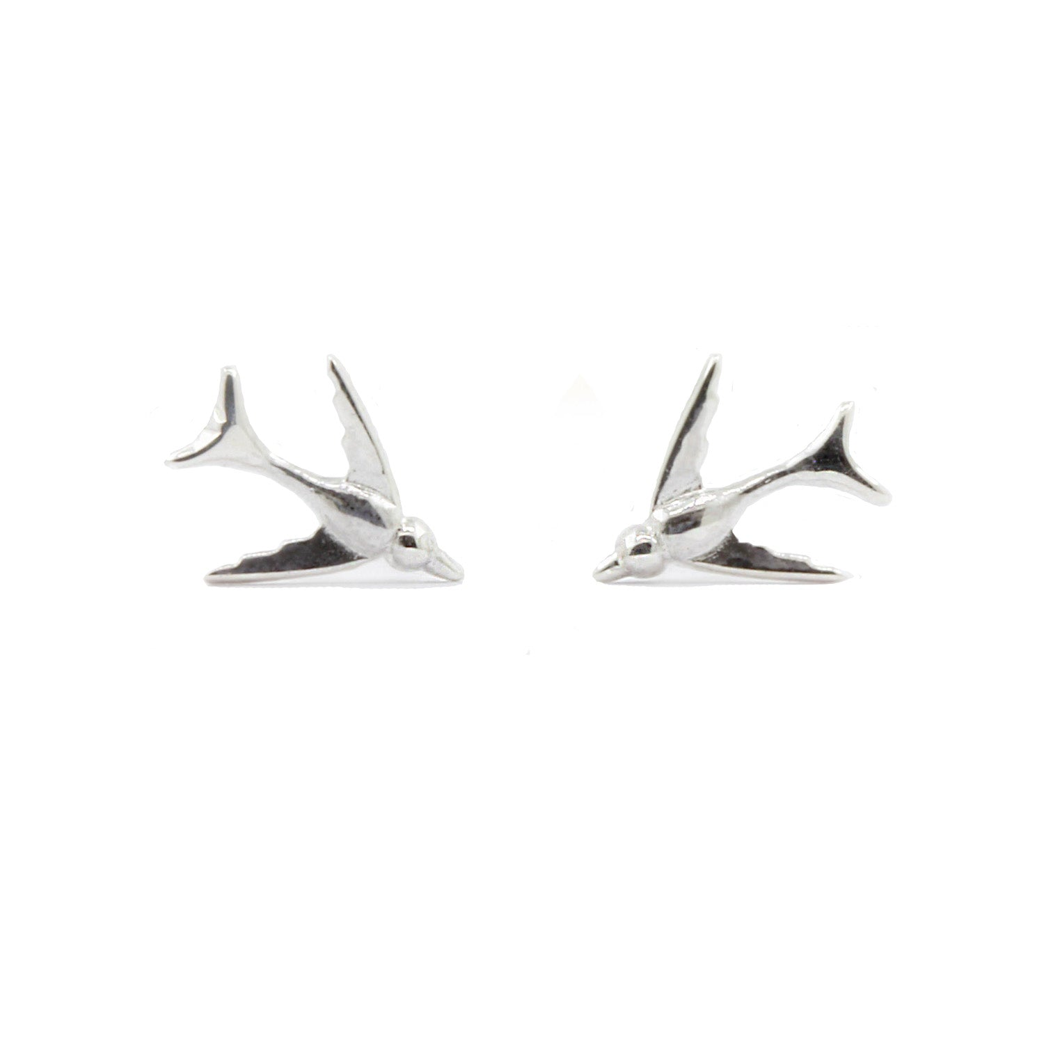 Tiny Swallow Earrings - Silver - IndependentBoutique.com