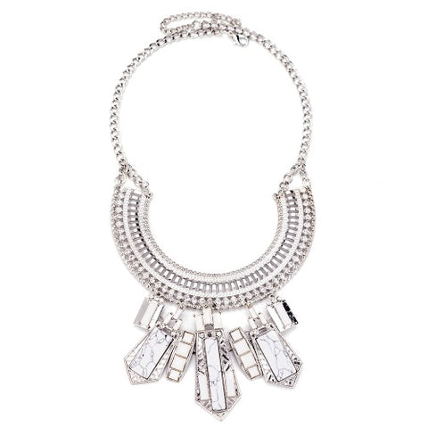 silver statement necklace from Emi Jewellery
