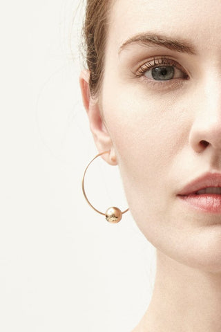 Gold Bexley Hoop Earrings - IndependentBoutique.com