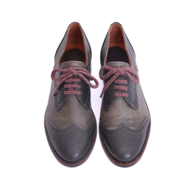 Scarlett and graphite Lace-up Shoes - IndependentBoutique.com