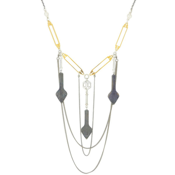 Gold & Silver Avalanche Necklace - IndependentBoutique.com