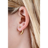 Gold Banana Mono Earring - IndependentBoutique.com