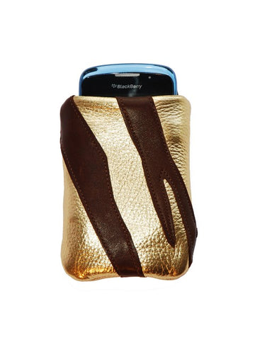 Gold & Chocolate Leather iCase