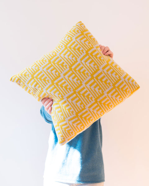 Piccalilli Fairisle Lambswool Dainty Cushion - IndependentBoutique.com