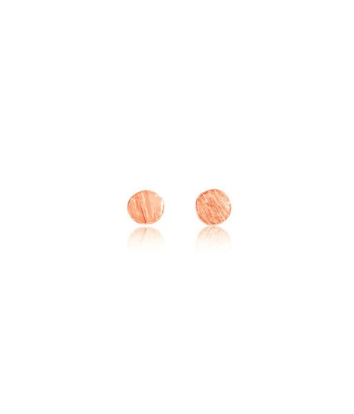 Rose Gold Dot Earrings - IndependentBoutique.com