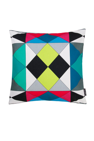 GEOMETRIC VIBRANT CUSHION COVER