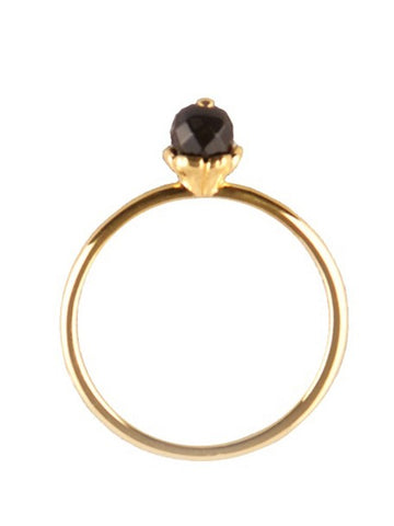 Flower stack ring gold