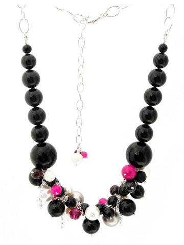 Fuchsia Daze statement necklace