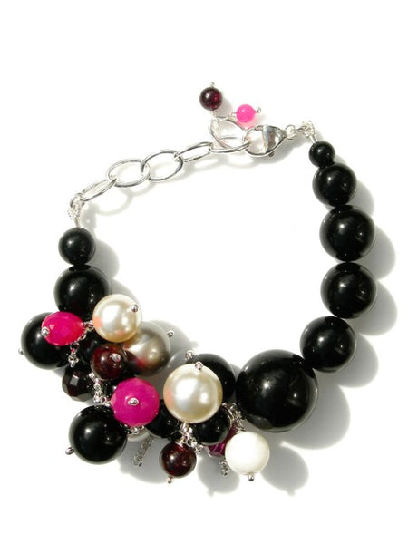 Fuchsia daze statement bracelet - IndependentBoutique.com