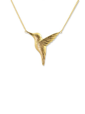 Gold Hummingbird Necklace - IndependentBoutique.com