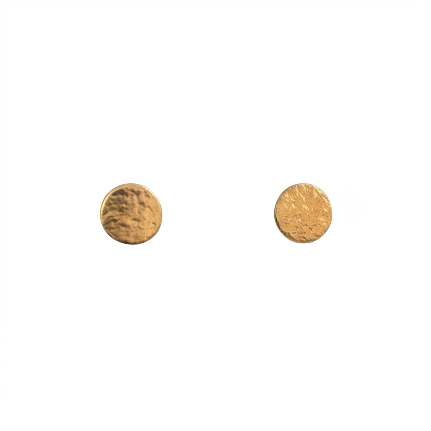 Gold Stud Earrings in Medium