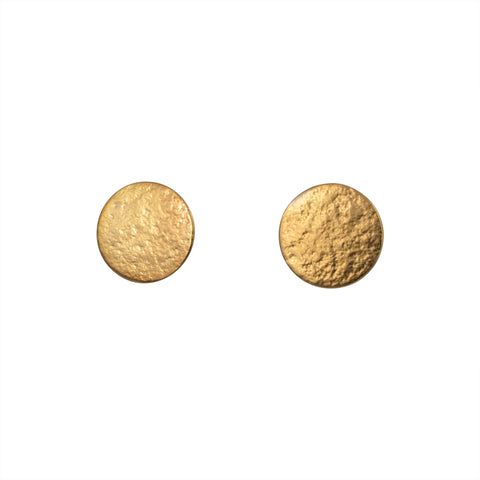 Gold large stud earrings