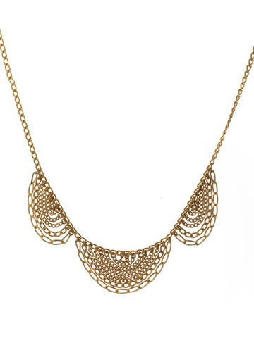 Gold Scallop Necklace - IndependentBoutique.com
