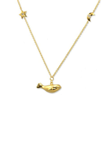 Gold Seal Necklace - IndependentBoutique.com